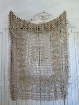 FRENCH Antique ART DECO 20s BOHEME chic Crochet Curtain  french SHABBY