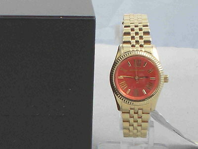 22421f629aeb MICHAEL KORS WOMEN S Goldtone Orange Dial Petite Lexington Watch MK3284   195 -  101.49