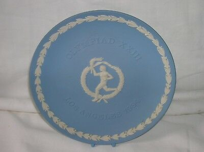 Lovely Wedgwood blue jasper ware 6.5 inch diameter plate - Los Angeles Olympics