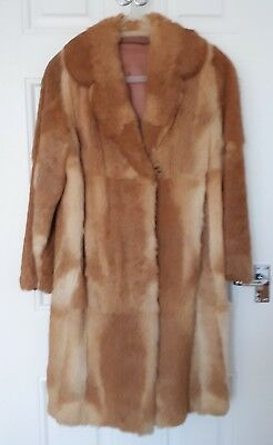 Vintage GENUINE Red Fox Fur Coat c. 1950's UK Size 12?