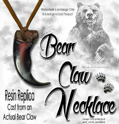 Bear - Rugged Grizzly Claw Necklace Wild Grizzlies Jewelry Replica Free Ship #6*