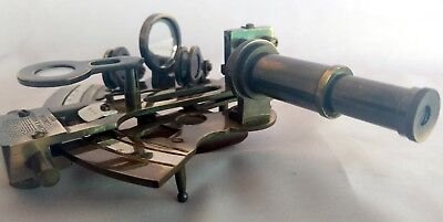 """4"""" Brass Ship Sextant Nautical Marine Working Astrolabe Vintage Antique Sextant"""