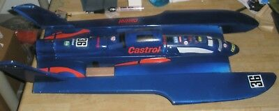 """Castrol Blue 1/12 Scale 36"""" Hydroplane Fiberglass RC Boat, Hull only, no motor"""