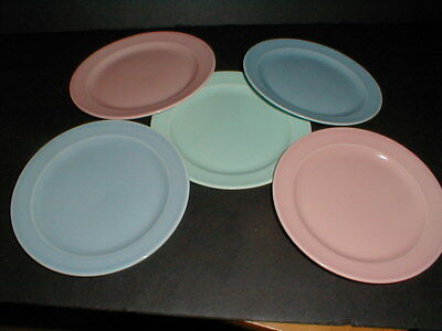 5 Taylor Smith Taylor Pastel LURAY  Bread Plates Set of Five