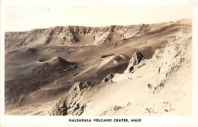 LP06 Volcano Hawaii Hawaiian Islands Vintage Postcard RPPC Maui Haleakala Crater