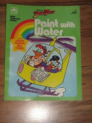 Vintage Duck Tales Paint With Water Golden Activity Book Walt Disney 1986 Unused