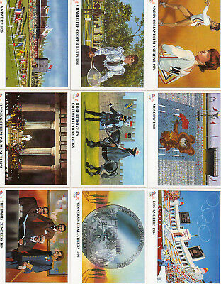 The History Of The Olympic Games - Lot Of 14 Different Cards NM Imperial 1996