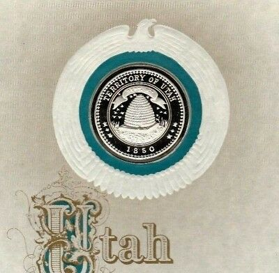 Historic Silver Seal of the State of Utah UT
