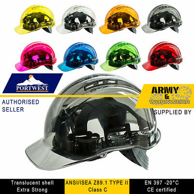 Portwest Peak View Hard Hat Vented Helmet Safety Protection Work See Through