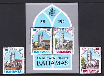 Bahamas 1986 Christ Church Cathedral - MNH Sheet & Stamps - Cat £5.25 - (184)