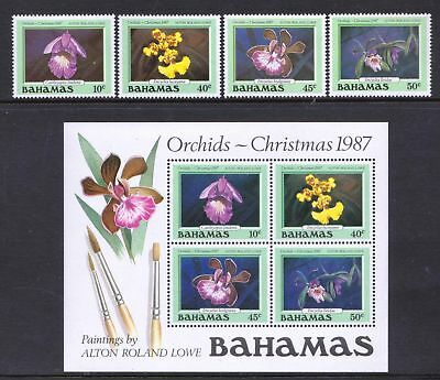 Bahamas 1987 Christmas Orchids FLOWERS MNH Stamps & Sheet - Cat £23.75- (191)