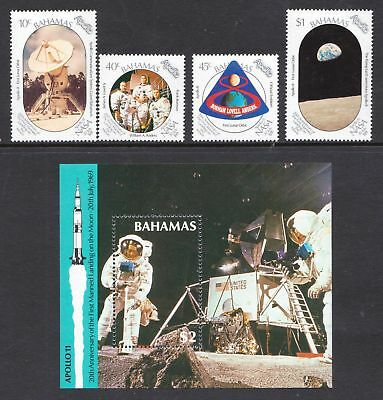 Bahamas 1989 Anniversary of Manned Moon Landing SPACE - MNH - Cat £13 - (203)