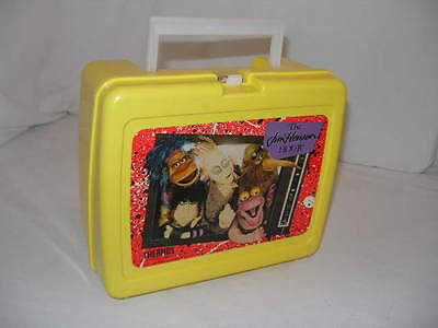 Vintage Thermos Jim Henson Hour Muppets Yellow Plastic Lunchbox 1989 Rare