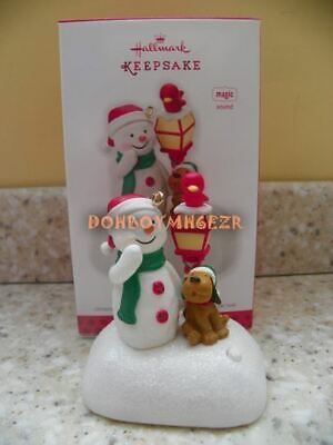 Hallmark 2013 Merry Carolers Trio Snowman Magic Christmas Ornament