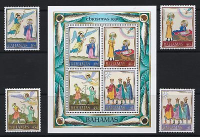 Bahamas 1990 Christmas Issue - MNH Stamps & Sheet - Cat £20 - (211)