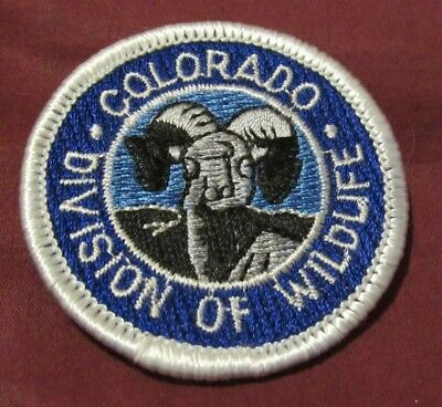 RARE Colorado Division of Wildlife Field Uniform Cap Patch from 2000! NEW!