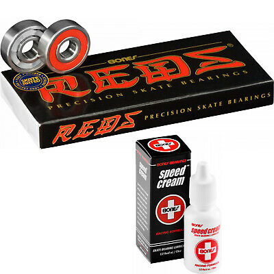 Bones Reds Skateboard Bearings with Speed Cream