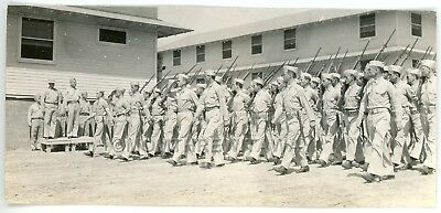 WWII PHOTO GA Camp Wheeler Army 14th Battalion General Hester Reviews Troops
