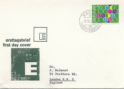 Liechtenstein1960 Europa issue  first day cover