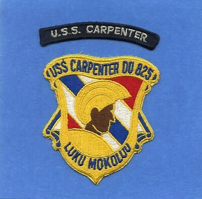 USS Carpenter DD 825 Navy Jacket Patch with Shoulder Tab