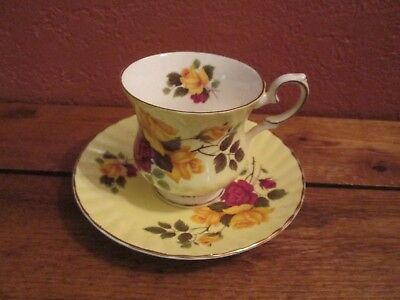 Vintage Elizabethan Fine Bone China Made in England Cup and Saucer
