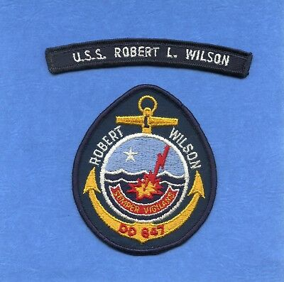 USS Robert L. Wilson DD 847 Navy Jacket Patch with Shoulder Tab