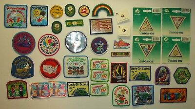 Lot of 37 Girl Scout Badges Used and UnUsed