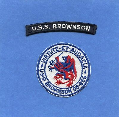 USS Brownson DD 868 Navy Jacket Patch with Shoulder Tab