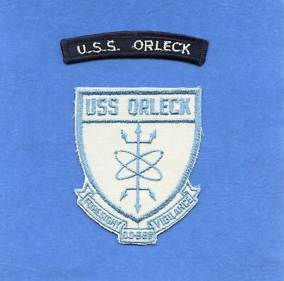 USS Orleck DD 886 Navy Jacket Patch with Shoulder Tab #2