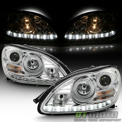 2000 2006 Mercedes Benz W220 S500 S600 Led Drl Projector Headlights Headlamps
