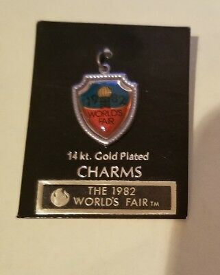 1982 Worlds Fair Charm 14 K Gold Plated Knoxville Tenn