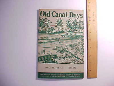 1959 OHIO CANAL HISTORY OF FRANKLIN COUNTY COLUMBUS OHIO PICTURES 24 pp. VG+