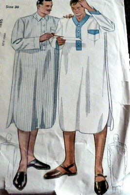 VTG 1930s MENS NIGHTSHIRT Sewing PatternCHEST 38