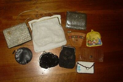 10 Shabby Vintage/Antique Items -Glomesh Bag -Wallet -Purses etc. -Display Prop
