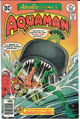 Adventure Comics (1938) #449 FN/VF 7.0 DC Comics Aquaman app.