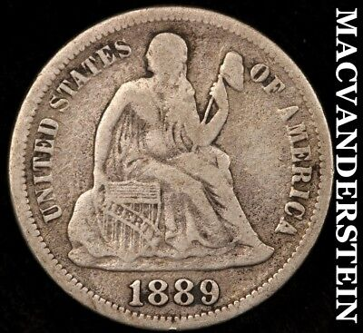 1889 Seated Liberty Dime- Scarce !! Better Date !! #b477