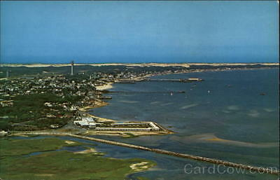 Provincetown,MA Air View of Provincetown Harbor Barnstable County Massachusetts