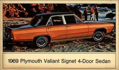 Cars 19969 Plymouth Valiant Signet 4-Door Sedan Chrome Postcard