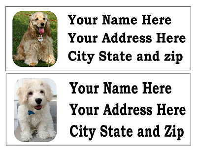 120 Cocker Spaniel Dog Pet Return Address Labels Many Choices