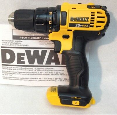 Dewalt DCD780 NEW 20V MAX Cordless Lithium-Ion 1/2 in. Compact Drill Driver BT