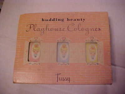 Vintage Budding Beauty Playhouse Colognes by Tussy Lenn & Fink Products