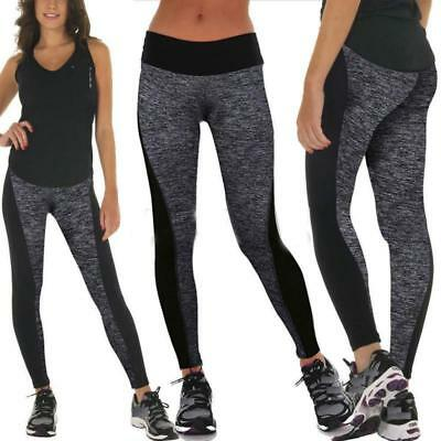 Womens Yoga Sports Pants Active Apparel Leggings Running Gym Fitness Trousers BS