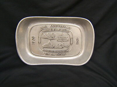 Wilton 250th Anniversary Borough of New Holland Pewter Tray Columbia PA
