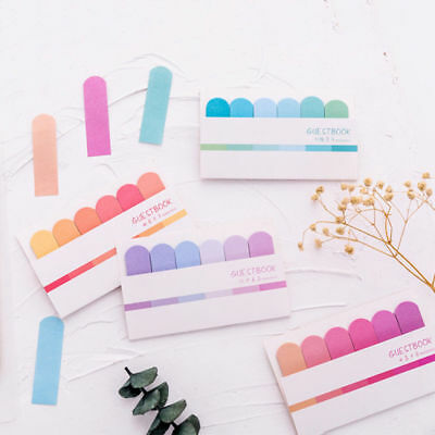 Pastel Color Divider Tab Index Sticky Notes Bookmark Sticker Marker Memo Flags