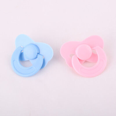 Pink And Blue Dummy Pacifier For Reborn Baby Dolls Supplies Tiny No Magnetic Toy