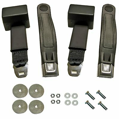 65-73 Mustang Retractable Seat Belt Kit, Lap Belts And Hardware For 2 Seats