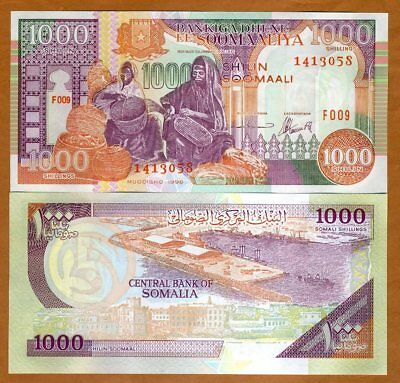 Somalia, 1000 shillings, 1996, P-37b, UNC > Basket Weavers