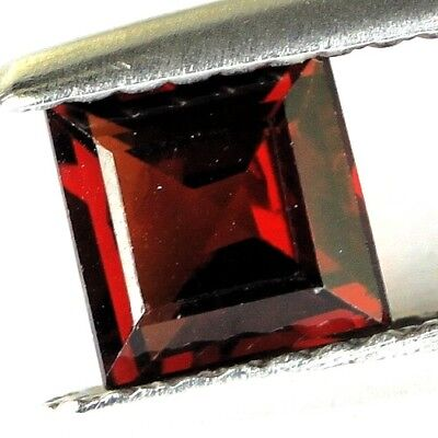 #0.84 cts. 5.3 x 3.2 mm. UNHEATED NATURAL RED ALMANDINE GARNET SQUARE AFRICA