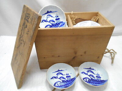 Japanese Antique Tea Ceremony Pottery Bowls x 18 Chanoyu Serving Dish Temple #6