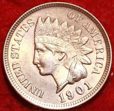 Uncirculated 1901  Red Philadelphia Mint  Indian Head Cent